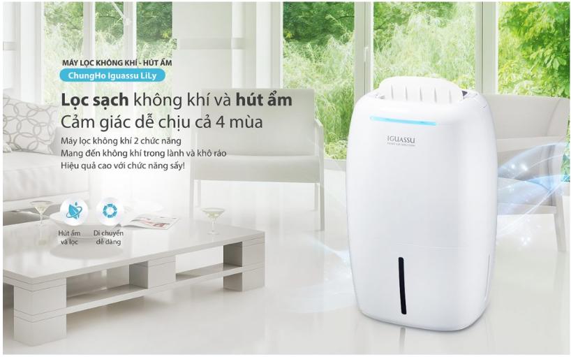 Công nghệ hút ẩm giúp duy trì độ ẩm ở mức phù hợp